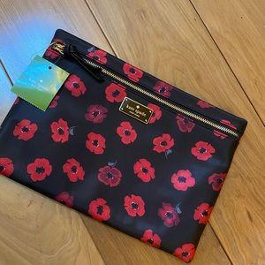 Kate Spade mini Poppy Large drewe pouch nylon